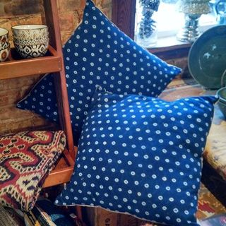 Shoptiques Product: Blue Dot Pillow