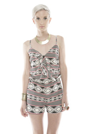 Shoptiques Product: Geo Print Romper - Front cropped