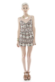 Shoptiques Product: Geo Print Romper - Front full body