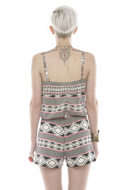 Shoptiques Product: Geo Print Romper - Back cropped