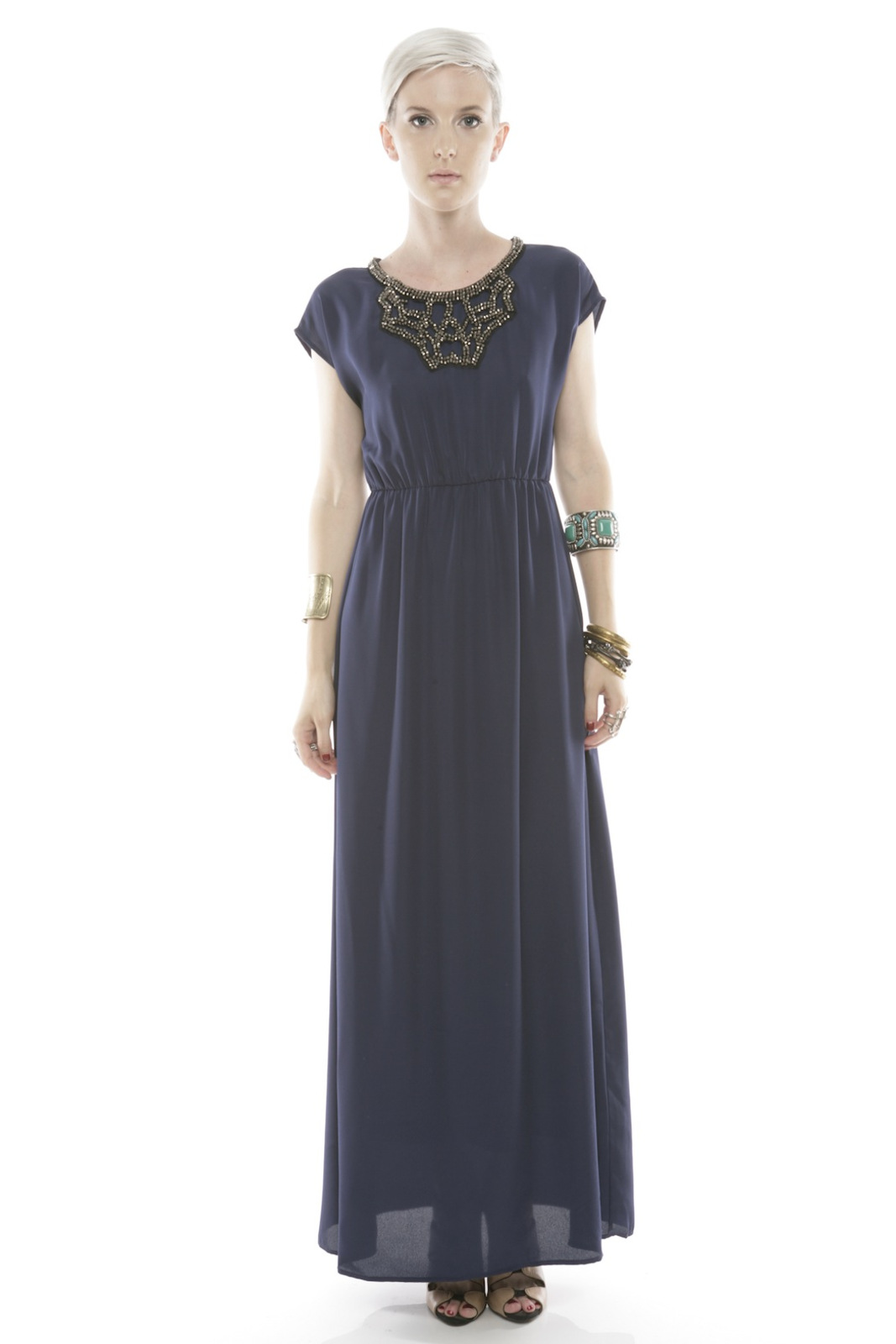 Collective Concepts Beaded Maxi Dress - Main Image
