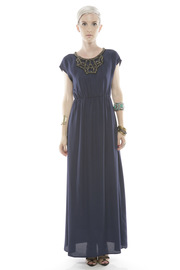 Collective Concepts Beaded Maxi Dress - Front cropped