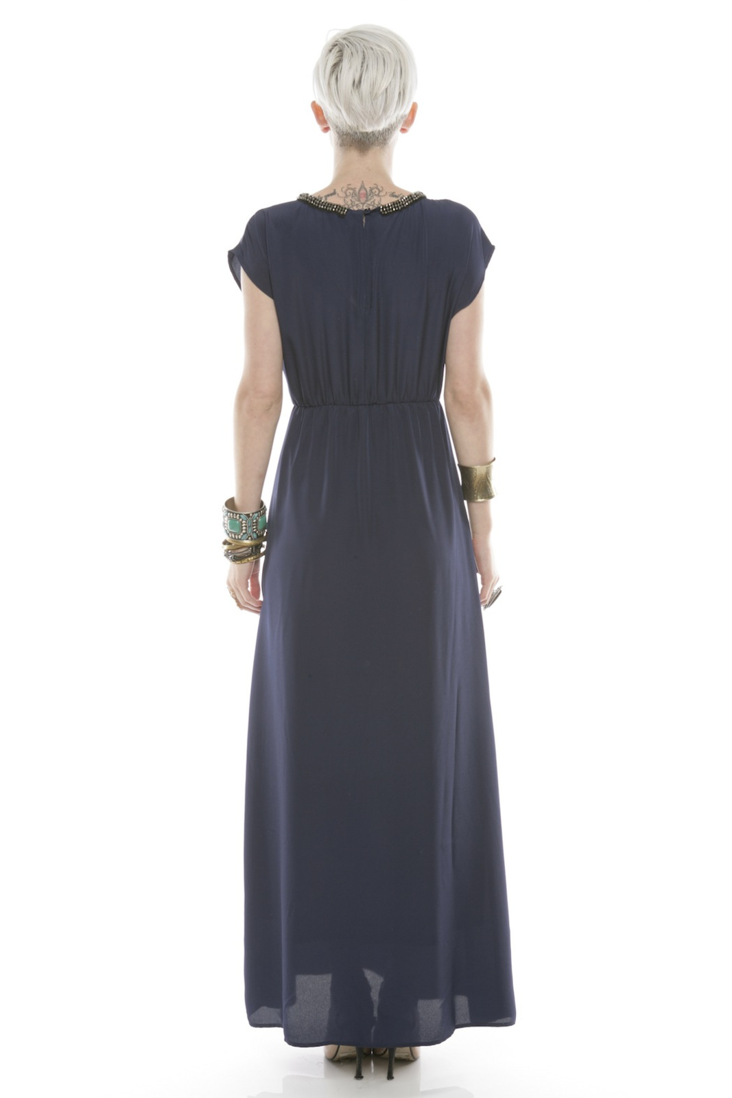 Collective Concepts Beaded Maxi Dress - Side Cropped Image