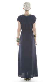 Collective Concepts Beaded Maxi Dress - Side cropped