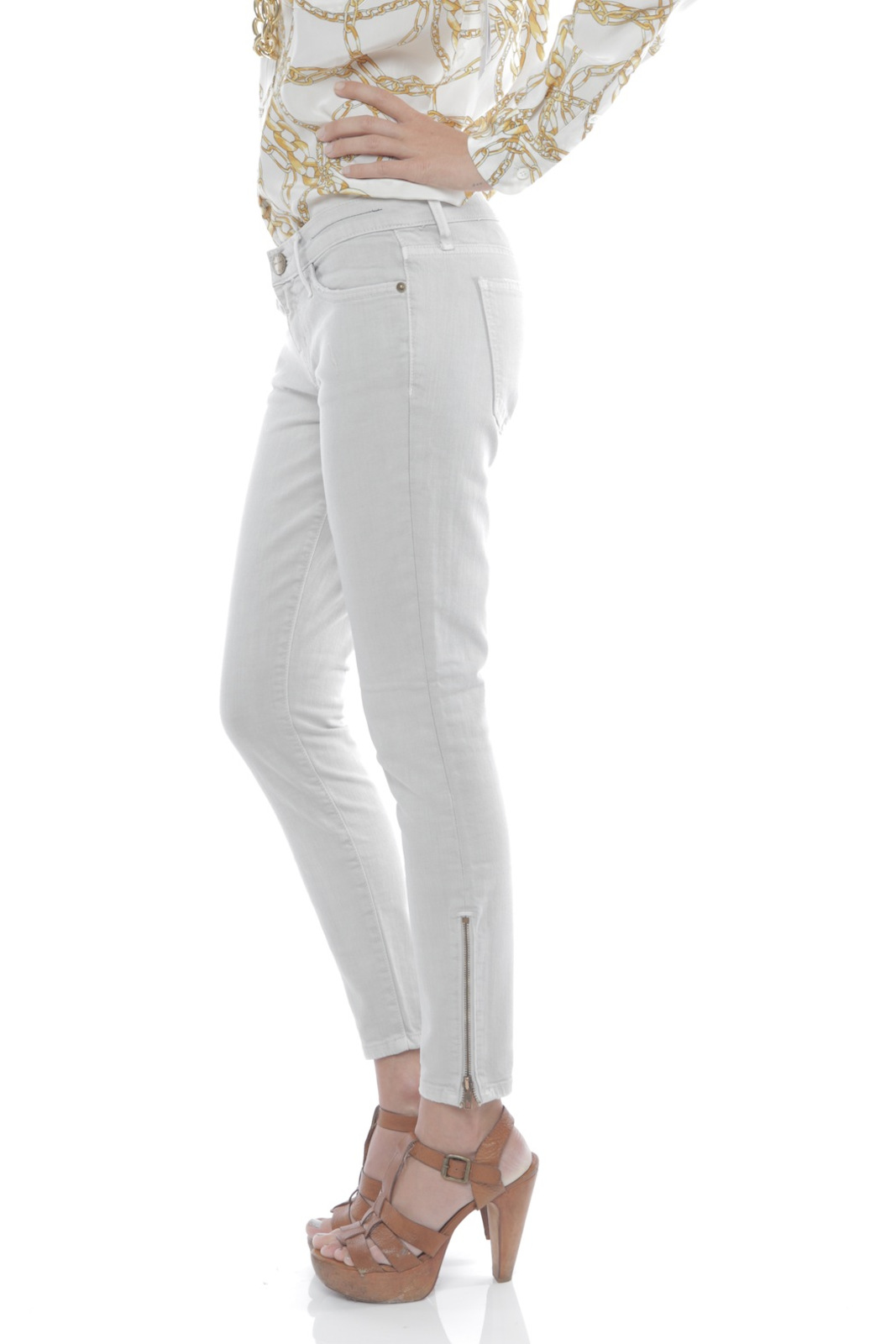 Current/Elliott The Zip Stiletto Jeans - Side Cropped Image