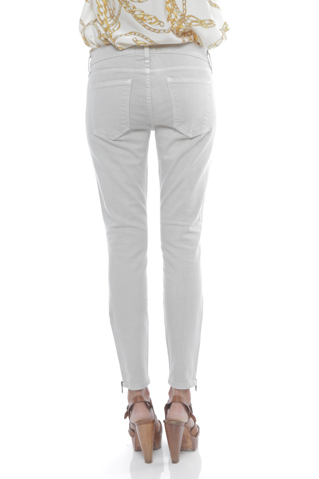 Current/Elliott The Zip Stiletto Jeans - Back Cropped Image