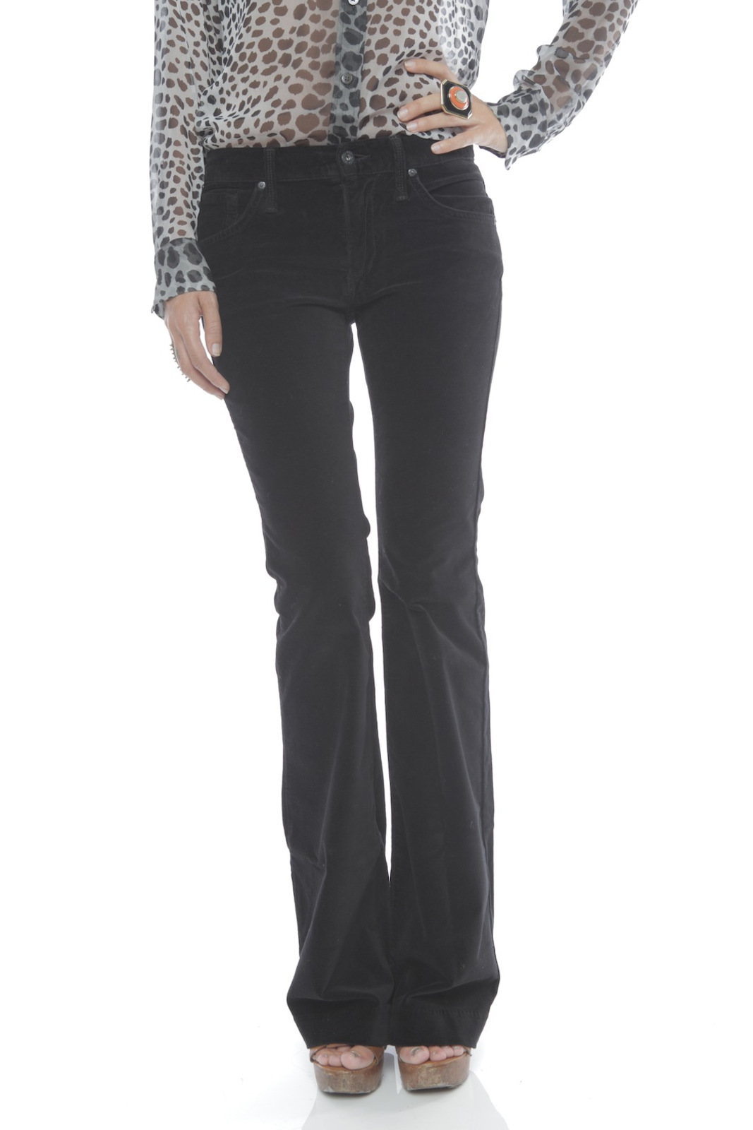 James Jeans High Rise Flare Jeans - Front Cropped Image