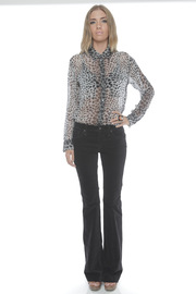 James Jeans High Rise Flare Jeans - Front full body