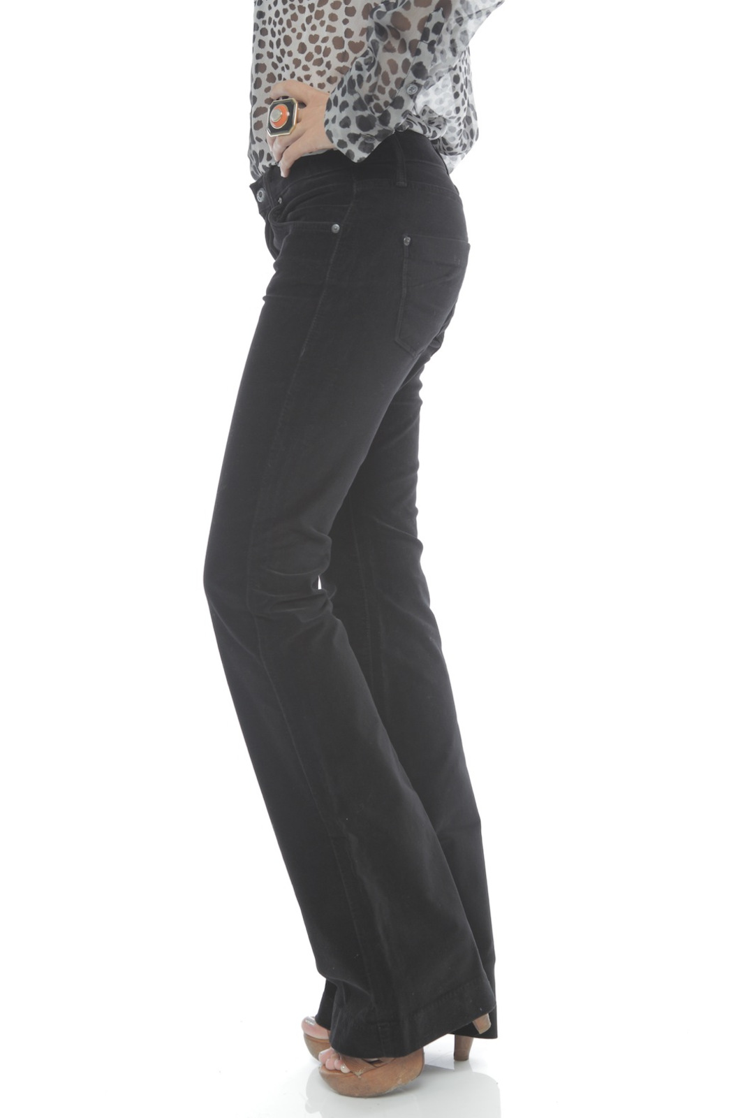 James Jeans High Rise Flare Jeans - Side Cropped Image