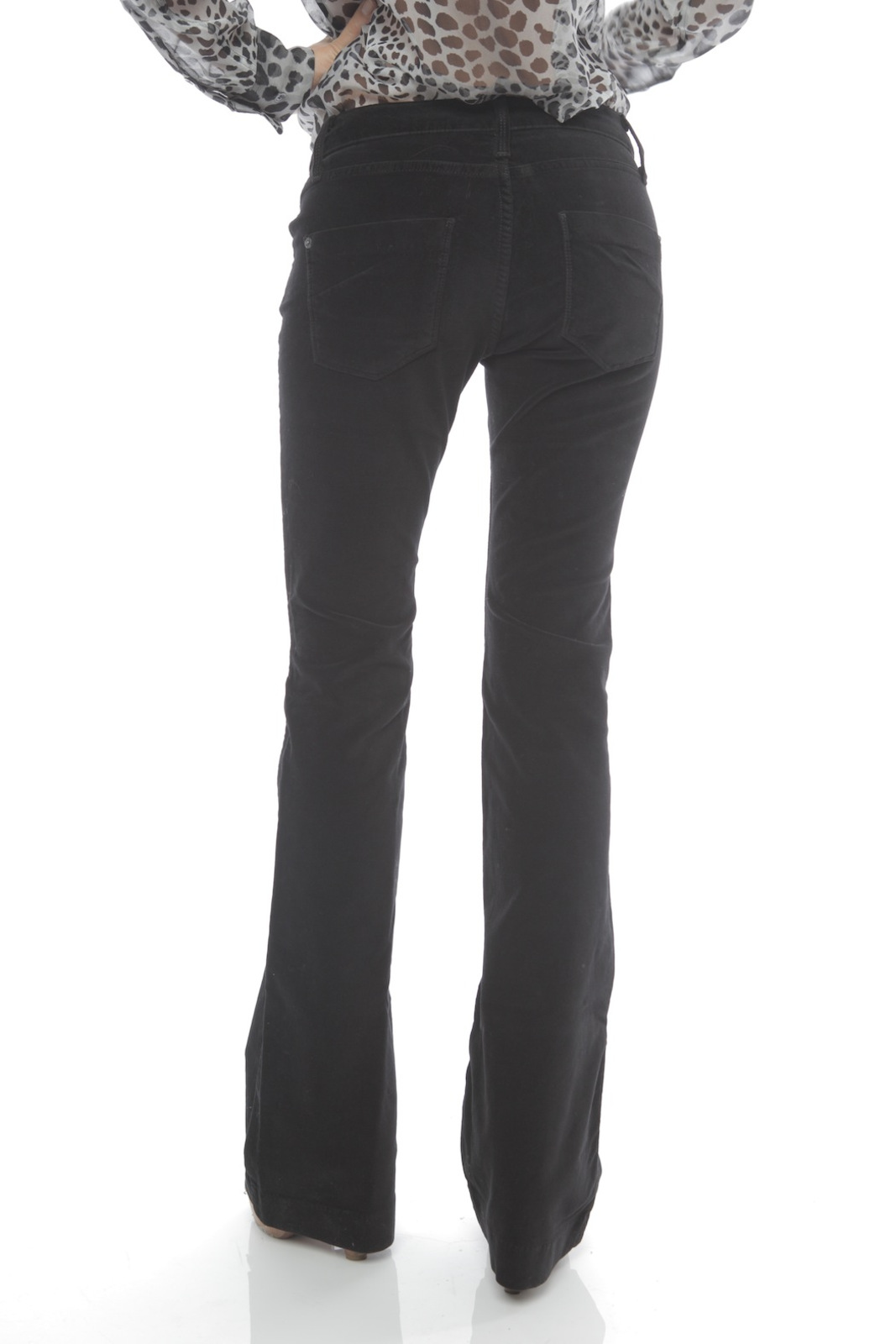 James Jeans High Rise Flare Jeans - Back Cropped Image