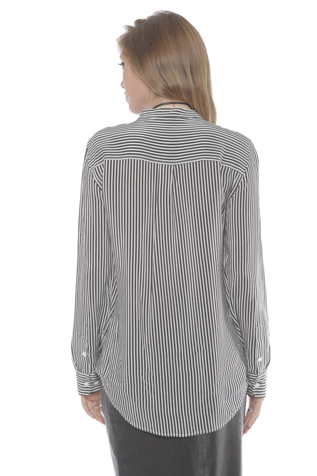 Equipment Collarless Slim Signature Silk Blouse - Side Cropped Image