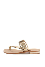 Trina Turk Gold Brentwood Sandal - Side cropped