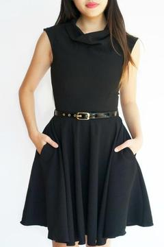 Closet Belted Black Dress - Product List Image