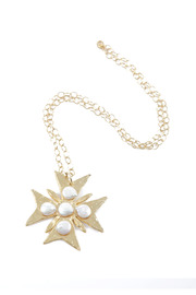 Susan Shaw Gold Cross Necklace - Other