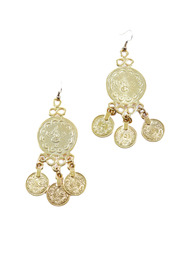 Shoptiques Product: Gold Coin Earrings