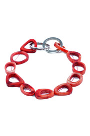 Shoptiques Product: Red Bone Link Necklace