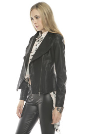 C. Luce Leather Motorcycle Jacket - Side cropped