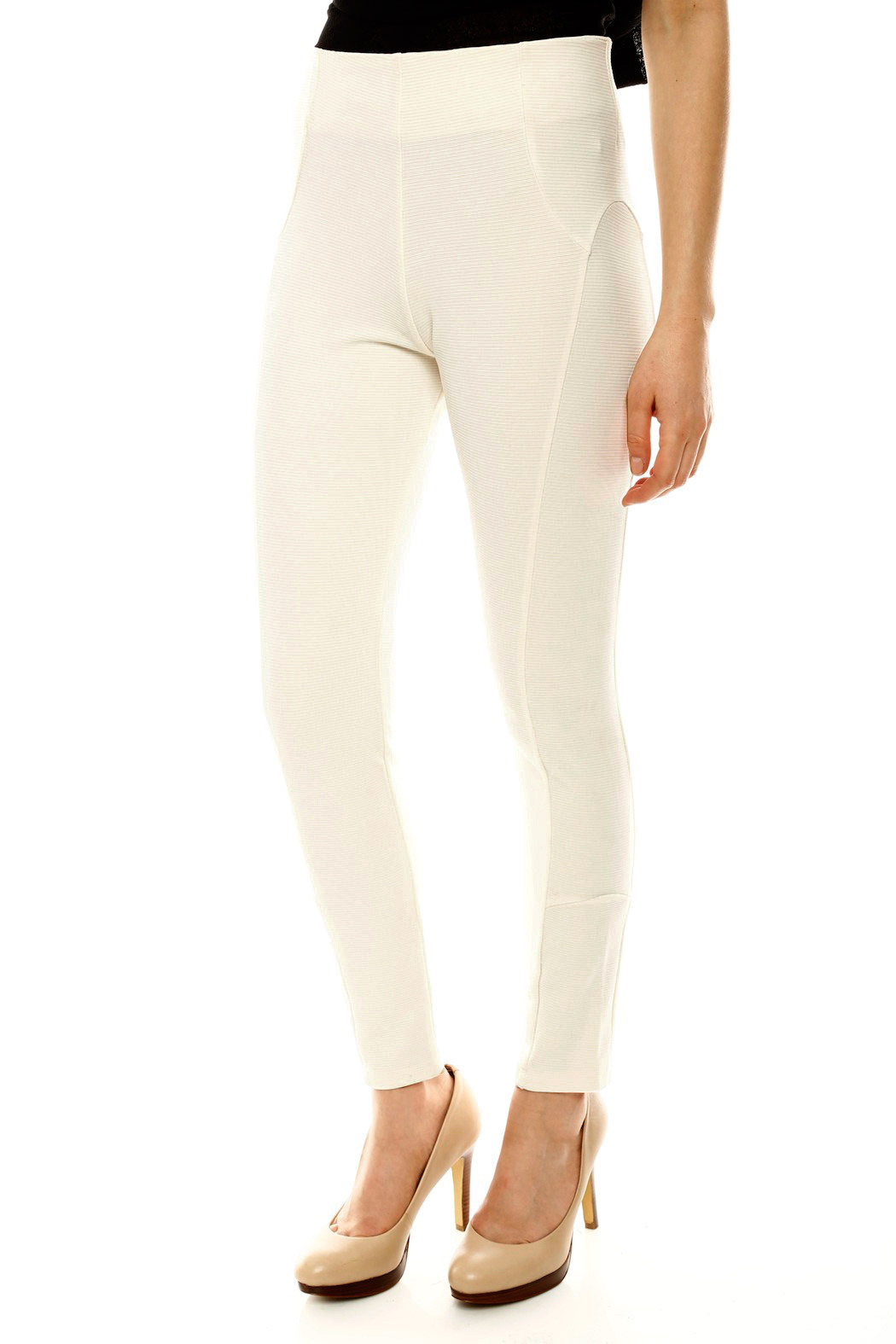 Gracia Ribbed Riding Pant - Side Cropped Image