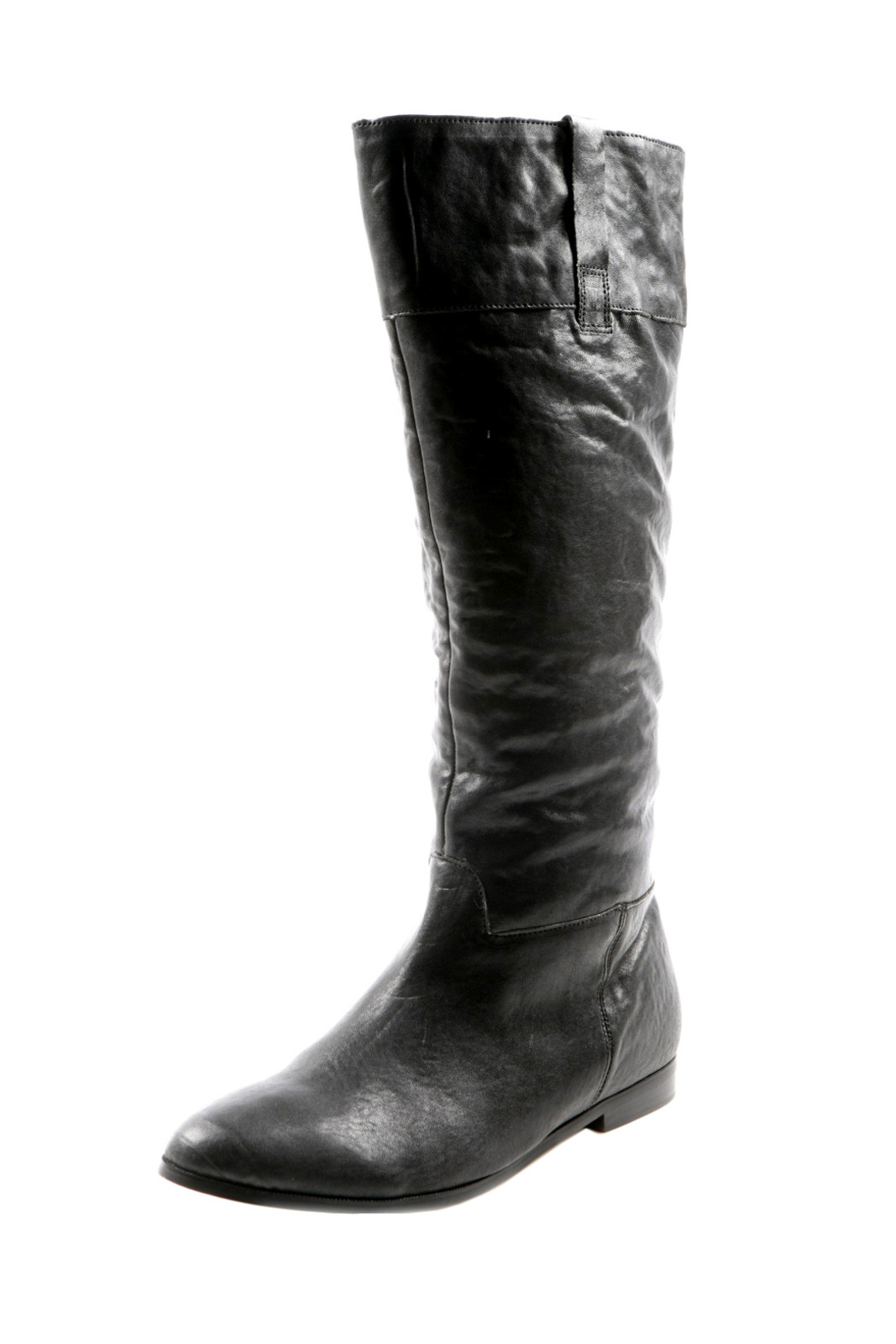 Zigi Flat Leather Boots - Main Image