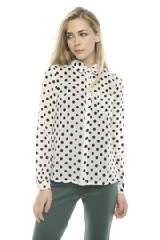 Lovely Girl Polka Dot Blouse - Front cropped