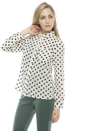 Lovely Girl Polka Dot Blouse - Side cropped