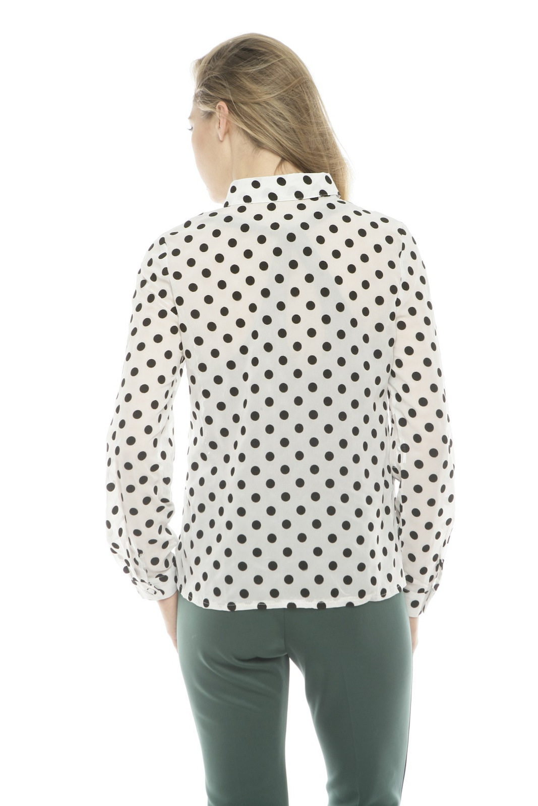 Lovely Girl Polka Dot Blouse - Back Cropped Image