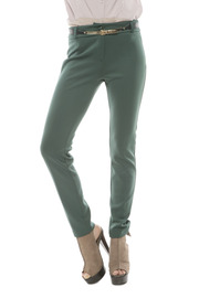 Shoptiques Product: Gold Belt Skinny Pants