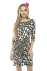 Shoptiques Product: Round Neck Printed Dress