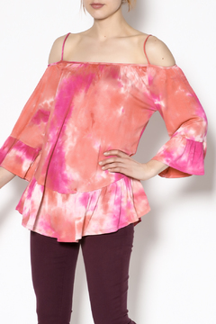 143 Story Coral Tie Dye Top - Product List Image