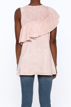 143 Story Sleeveless Distressed Ruffle Top - Alternate List Image