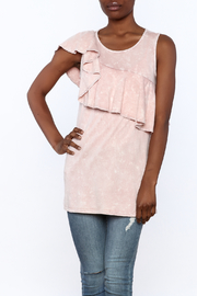 143 Story Sleeveless Distressed Ruffle Top - Product Mini Image