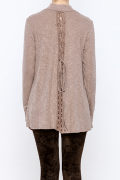 143 Story Taupe Lace Back Top - Alternate List Image