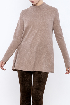 143 Story Taupe Lace Back Top - Product List Image