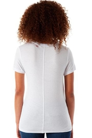 143 Tees  White V-Neck Tee - Front full body