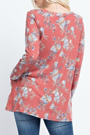 143 Story A-Line Floral Top - Front full body