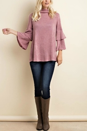 143 Story Angora Flounce Sweater - Front cropped