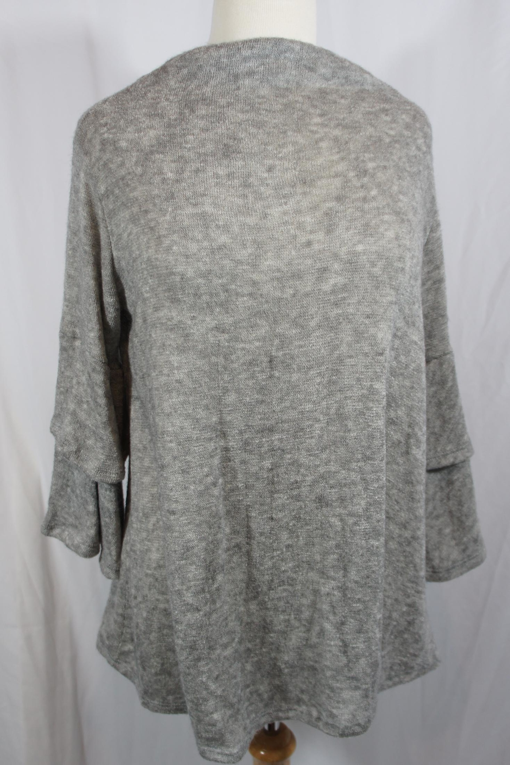 143 Story Angora Flounce Sweater - Front Cropped Image