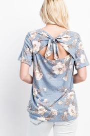 143 Story Back-Tie Floral Tee - Product Mini Image