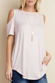 143 Story Bamboo Cold Shoulder Top - Product Mini Image