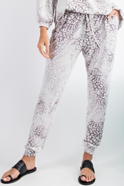 143 Story Cloudy Leopard-Print Joggers - Product Mini Image