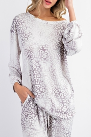 143 Story Cloudy Leopard-Print Top - Product Mini Image