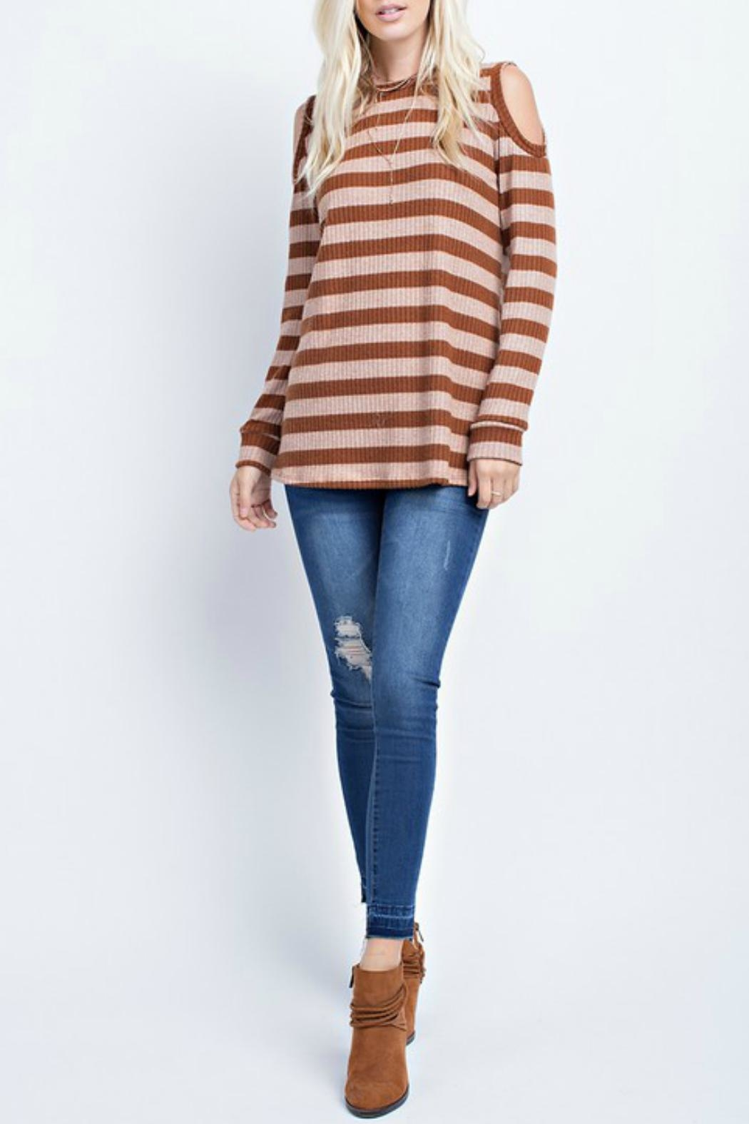 143 Story Cold Shoulder Stripe - Main Image