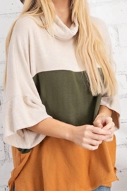 143 Story Color Block Cowl Neck Top - Product Mini Image