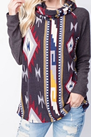 143 Story Cowl-Neck Aztec Top - Product Mini Image
