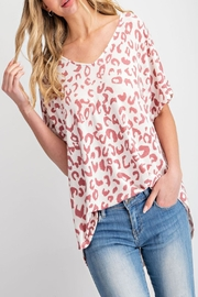 143 Story Criss-Cross Leopard-Print Top - Product Mini Image