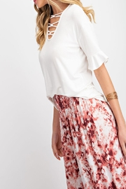 143 Story Criss-Cross V-Neck Top - Front cropped