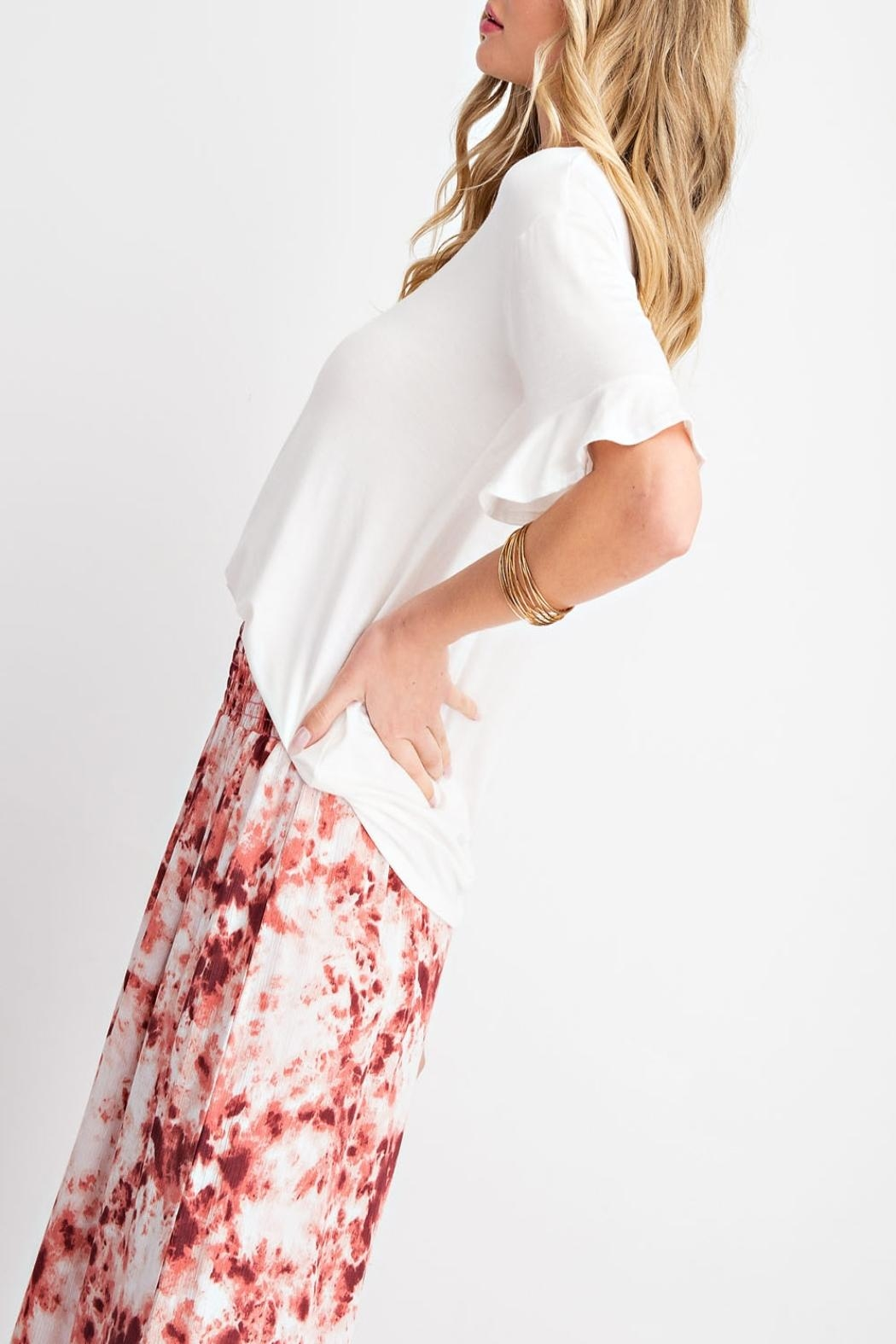 143 Story Criss-Cross V-Neck Top - Side Cropped Image