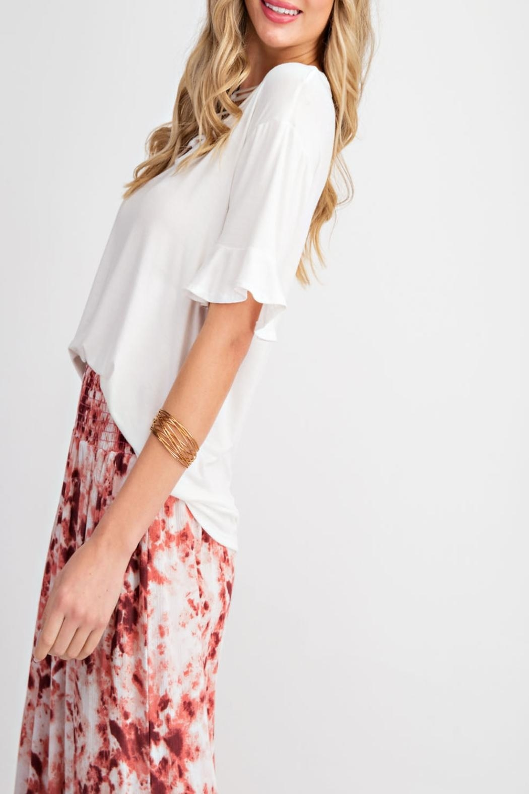 143 Story Criss-Cross V-Neck Top - Back Cropped Image