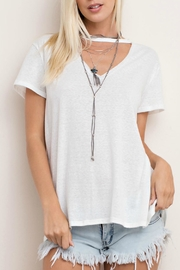 143 Story Cut Neck Tee Top - Front full body