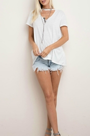 143 Story Cut Neck Tee Top - Front cropped